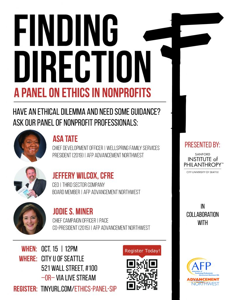 Finding Direction: A Panel on Ethics in Nonprofits @ City U of Seattle